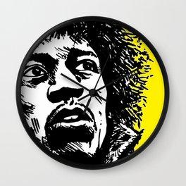 Jimi Hendrix Pop-Art (Yellow) Wall Clock