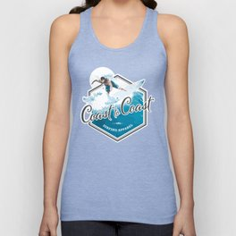 Surfing Coast to Coast Unisex Tank Top