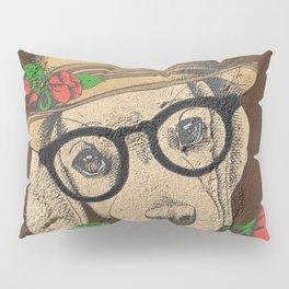 Cute Hipster Pup Pillow Sham