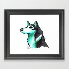 Brush Breeds-Siberian Husky Framed Art Print