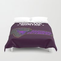 monster hunter Duvet Covers featuring Monster Hunter All Stars - BD by Bleached ink