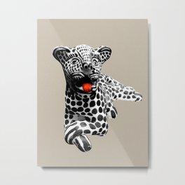 tigre blanco Metal Print
