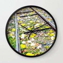 Tramway tracks in Turin Wall Clock