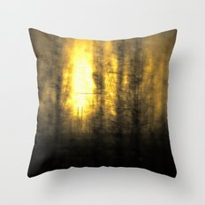 Train View Throw Pillow
