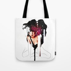 Ringu Woman Illustration in Mixed Digital Media Tote Bag