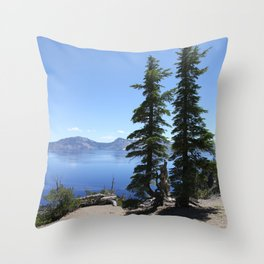 Scenic Crater Lake Throw Pillow
