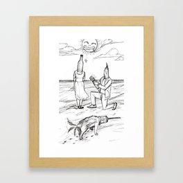 How cute. Framed Art Print
