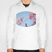 cherry blossoms Hoodies featuring Cherry blossoms by Ludwig Spove