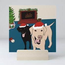 Labs Love Christmas! Mini Art Print