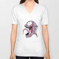 venom V-neck T-shirts featuring Venom by Bearskin
