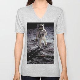 Buzz Aldrin on the Moon Unisex V-Neck
