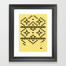 Invasion Pattern Framed Art Print