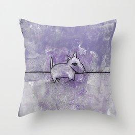 Dog No.1p by Kathy Morton Stanion Throw Pillow