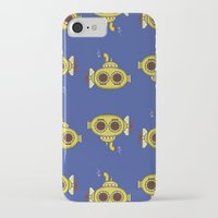 yellow submarine iPhone & iPod Cases featuring Yellow submarine by Posterity
