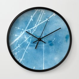 Nature's Graphics Blue Cyanatope Print Wall Clock