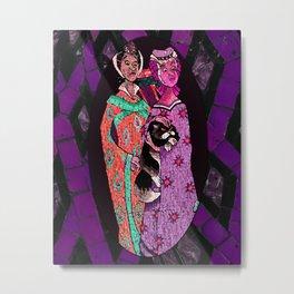 Ugly Sisters Mosaic Tiles Metal Print
