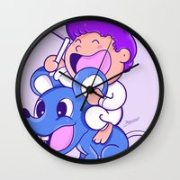 finding nemo Wall Clocks featuring Nemo by bscorreiaart