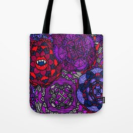 Spooky Flowers Tote Bag