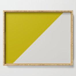 Ogre Yellow & Light Grey - oblique Serving Tray