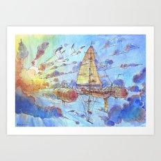 Viaggiando nel Sole Art Print