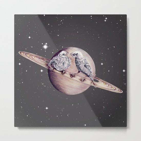 Space Sparrows Metal Print