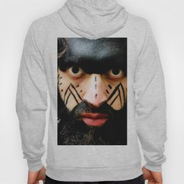 Colombian Tribal Bear Mark Of Courage by Wendy C Vega Hoody
