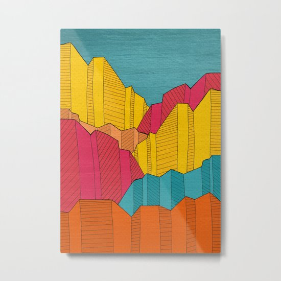 Cliff Colours Metal Print