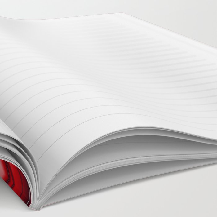 Fractal Web in Red White and Black Notebook