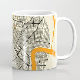 New Orleans Map Moon Coffee Mug