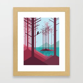 The guardian of the forest Framed Art Print