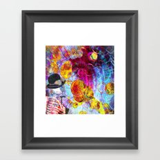 Monsieur Bone in the Abstracts world Framed Art Print