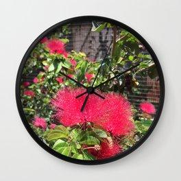 Hawaiian Lehua Papa Wall Clock
