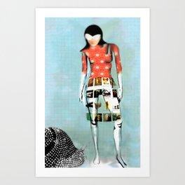 Girl with Snail Art Print