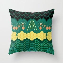 Rainforest HARMONY pattern Throw Pillow
