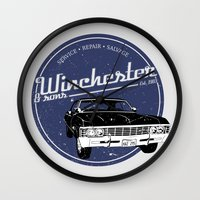 winchester Wall Clocks featuring Winchester & sons by mostly10