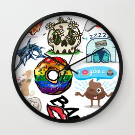 Some of my best designs all in one pizza lgbt donut gamers fish gym duck bae kitten  dog Wall Clock