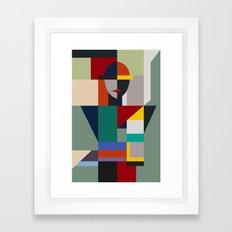 NAMELESS WOMAN Framed Art Print