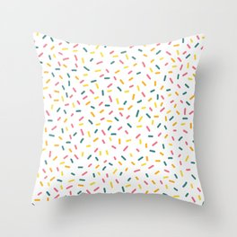 Colorful Party Sprinkles Throw Pillow