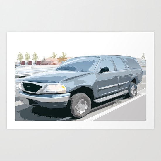 Ford Expedition updated face lift Art Print