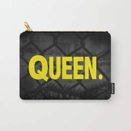"""Urban Word Font """"Queen"""" Inner City Street Style. Carry-All Pouch"""