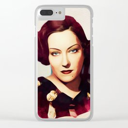 Gloria Swanson, Vintage Actress Clear iPhone Case