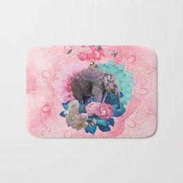 FLORAL ELEPHANT Bath Mat