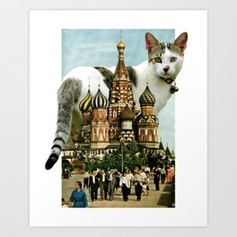 St. Basil's Cat-thedral Art Print