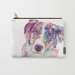 Multicolored Australian Shepherd red merle herding dog Carry-All Pouch