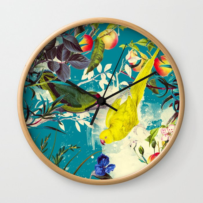 Tropical birds in the nature - 010 Wall Clock