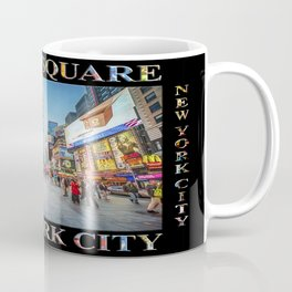 Times Square Sparkle (with type on black) Coffee Mug