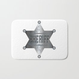 Sheriff Badge Bath Mat