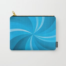 BLUE CURVES Abstract Art Carry-All Pouch