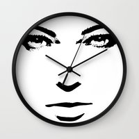 woman Wall Clocks featuring Woman by Sventine