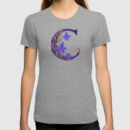 Floral Letter C Monogram T-shirt